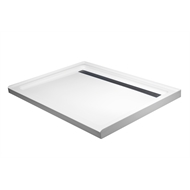 Rick McLean's Designer Bathware 1200 x 900mm White Modern Acrylic Shower Base With Stainless Steel Grate