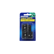 Narva 28mm Black Cable Tie Mounts - 5 Pack