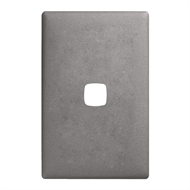 HPM LINEA 1 Gang Coverplate - Gun Metal