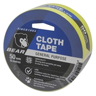 Norton Bear 50mm x 15m Yellow Cloth Tape