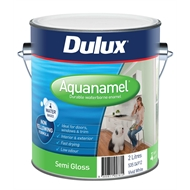 Dulux Aquanamel 2L Semi Gloss White Enamel Paint