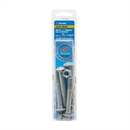 Zenith M10 x 75mm Galvanised Cup Head Bolt And Nut - 4 Pack