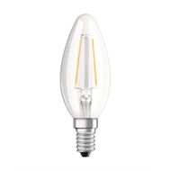 Osram 2.8W 250lm LED Warm White Filament Candle SES Globe