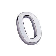 Sandleford 50mm 0 Chrome Harbour Numeral