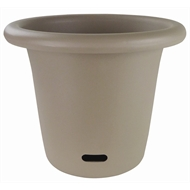 HomeLeisure 340mm Taupe Round Contemporary WaterSaver Planter