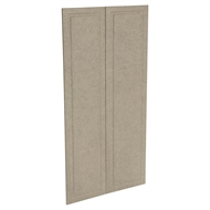 Kaboodle 900mm Raw Board Heritage Pantry Doors - 2 Pack
