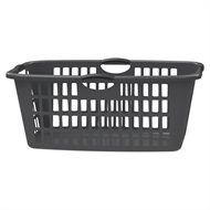 HomeLeisure Rectangular Jumbo Laundry Basket - Charcoal