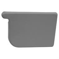 COLORBOND 115mm RH Quad Gutter Stop End - Basalt