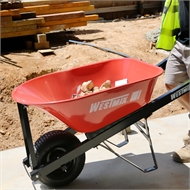 Westmix 100L Steel Tray Professional Wheelbarrow