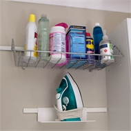 StoreEase White Mini Rail Shelf