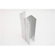 Ridgi 50 x 50 x 3mm 0.9m Galvanised Steel Corner Post (Each)