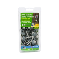 Zenith 12g x 50mm Galvanised Fixing To Timber Roof Screws - 50 Pack