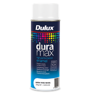 Dulux Duramax 340g Satin Spray Paint - Vivid White