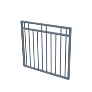Protector Aluminium 975 x 900mm Double Top Rail 2 Up 2 Down Garden Gate - To Suit Gudgeon Hinges - Deep Ocean