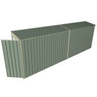 Build-a-Shed 0.8 x 6 x 2m Hinged Door Tunnel Shed - Green