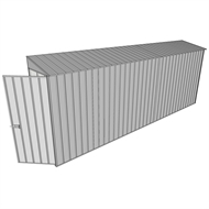 Build-a-Shed 0.8 x 5.2 x 2m Hinged Door Tunnel Shed  - Zinc