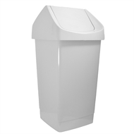 Icon Plastics 27L White Swing Top Tidy Bin