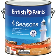 British Paints 4 Seasons 4L Red Low Sheen Exterior Paint