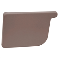 COLORBOND 115mm LH Quad Gutter Stop End - Terrain