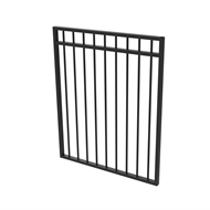 Protector Aluminium 975 x 1200mm Double Top Rail All Up Garden Gate - To Suit Gudgeon Hinges - Satin Black