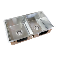 Everhard Squareline Plus Double Bowl Kitchen Sink
