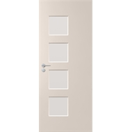 Corinthian Doors 2040 x 820 x 40mm Clear Glass Primed Madison Entrance Door