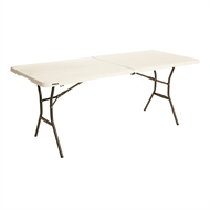 Lifetime 6ft Bi-Fold Blow Mould Trestle Table