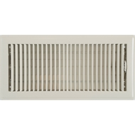 Accord 15 x 35cm Cream Metal Louvered Floor Register