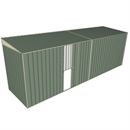 Build-a-Shed 1.5 x 6 x 2m Single Sliding Side Door Skillion Shed - Green