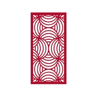 Protector Aluminium 900 x 1200mm ACP Profile 10 Decorative Panel Unframed - Dark Red