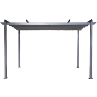 Mimosa 4 x 2.8m Grey Semi Permanent Retractable Roof Gazebo