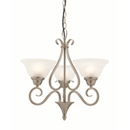 Mercator Balmain Brushed Chrome 3 Light Pendant
