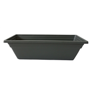 Lotus Collection 61 x 20cm Charcoal Rectangle Window Planter