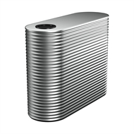 Kingspan 5000L Slim Steel Water Tank - 900mm x 1860mm x 3400mm Windspray