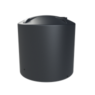 Melro 8000L Poly Round Water Tank - Metal Grey