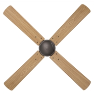 Brilliant 120cm 4 Blade Austin Ceiling Fan - Dark Metallic and Oak