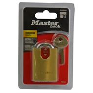 Master Lock 40mm Brass Shrouded Shackle Padlock