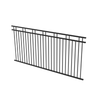Protector Aluminium 2450 x 1200mm Double Top Rail 2 Up 2 Down Ulti-M8 Fence Panel - Satin Black