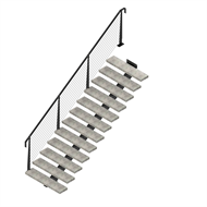 Weldlok Monostringer Concrete And Wire 12 Tread Stair Kit