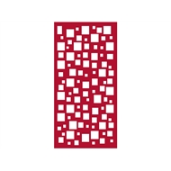 Protector Aluminium 1200 x 2400mm ACP Profile 7 Decorative Panel Unframed - Dark Red