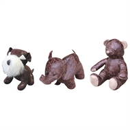 20 x 20 x 30cm Leatherette Animal Door Stop