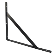 Carinya 400 x 350 x 25 x 3.5mm Black Stayed Straight Bracket