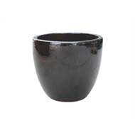 Northcote Pottery 23cm Primo Mod Egg Glazed Pot - Black
