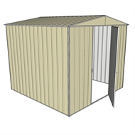 Build-a-Shed 2.3 x 2.3 x 2.3m Single Hinge Door Garden Shed - Cream