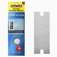Flexovit 108 x 372mm Medium Finish Painted Surface Slotted Sanding Sheet - 5 Pack