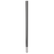 Architects Choice 50 x 50 x 1400mm Silver Glass Fence Core Drill Corner Post