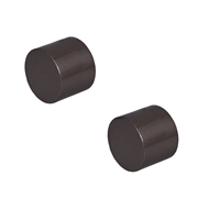 Pillar 16mm Black Curtain Rod Finial Cap - 2 Pack
