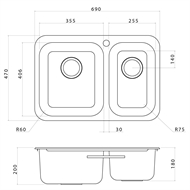 Clark 1.5 Single Bowl Polar Overmount Sink