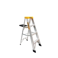 Gorilla 1.2m 150kg Single Side Aluminium Step Ladder With Tray