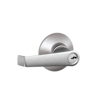 Schlage Satin Chrome Plated F Series Elan Entrance Lever